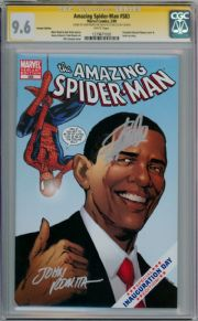 Amazing Spider-man #583 Obama Variant CGC 9.6 Signature Series Signed Stan Lee John Romita Sr Marvel